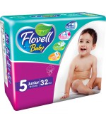 Flovell Baby #5 подгузники, 12-25кг, 32шт (22047)