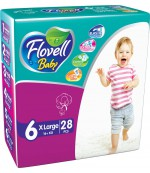Flovell Baby #6 подгузники, 16+кг, 28шт (22054)