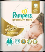 Pampers Premium Care #1 подгузники, 2-5кг, 22шт (87696)