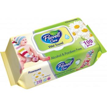 Flovell Ромашка влажные салфетки для детей, 100шт (90037+)