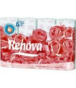Renova туалетная бумага, Deco, 12 рулонов, 4 слоя, 150 отрывов в рулоне (08778)