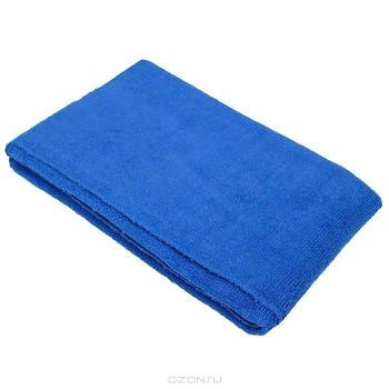 Тряпка микрофибра для уборки, Синяя, 40x60см, 1шт (92443)