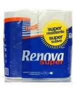 Renova туалетная бумага, Super, 4 рулона, 2 слоя, 150 отрывов в рулоне (00048)
