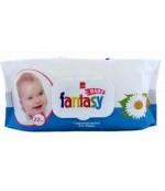 Fantasy влажные салфетки для детей, с экстрактом Ромашки,и маслом Облепихи, 72шт (53727)