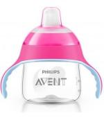 Philips AVENT поильник-чашка с носиком, Розовый, 200мл, 6+месяцев, 1шт (61078)