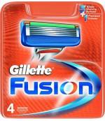 Gillette Fusion сменные кассеты, 4шт (74460)