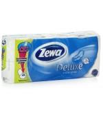 Zewa deluxe туалетная бумага  Pure, 8 рулонов, 3 слоя, 145 отрывов в рулоне (13345)