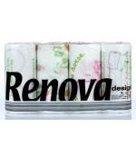 Renova Desing бумажные полотенца, 4 рулона, 2 слоя, 40 отрывов в рулоне (12775)