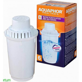 Aквафор фильтр для воды A6, сменный модуль для фильтра воды, 350л x 1шт (10106)