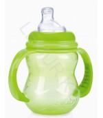 Nuby Бутылочка тренировочная-непроливайка широкое горлышко, Зеленый, 240 мл, 1 шт 6+ месяцев (21812)