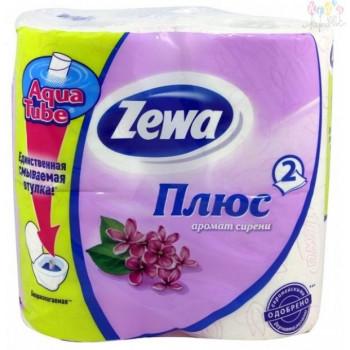 Zewa туалетная бумага Аромат Сирени, 4 рулона, 2 слоя, 184 отрывов в рулоне (67271)