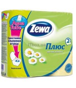 Zewa туалетная бумага Аромат Ромашки, 4 рулона, 2 слоя, 184 отрывов в рулоне (30304)