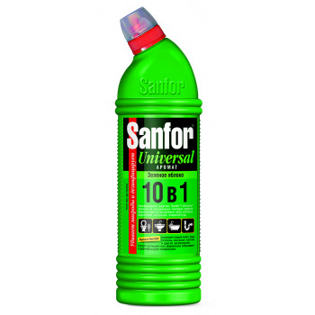 Sanfor universal 10в1, зеленое яблоко, универсальное чистящее средство, 750гр (04041)