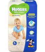 Huggies ultra comfort #4+ подгузники 10-16 кг, для мальчиков, 17шт (43772)