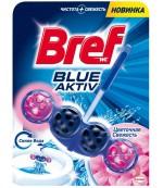Bref Blue Aktiv туалетные блоки для унитаза, Цветочная Свежесть, 1шт x 4 шарика (28577)