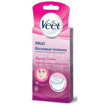 Veet восковые полоски для лица, с ароматом бархатной розы и эфирными маслами, 20 шт (22866)
