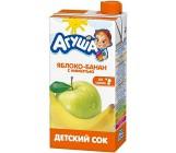 Агуша сок с мякотью, Яблоко и Банан, с 3 лет, 500 гр (02992)