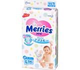 Merries #4 L подгузники, 9-14кг, 54шт (30881)