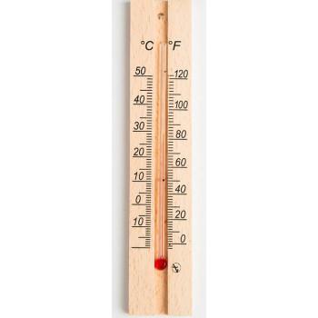 Комнатный градусник деревянный, 1шт (97589)