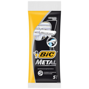 Bic Metal одноразовые бритвенные станки, 5шт (05416)