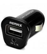Remax USB зарядка от прикуривателя, автозарядка 2.1А, черный,  1шт (25089)