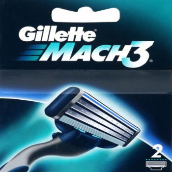 Gillete Mach3 сменные кассеты для бритвы, 2шт (51970)