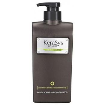 Kerasys Homme шампунь для лечения кожи головы, против перхоти и зуда, с Экстрактами трав, 550мл (77395)