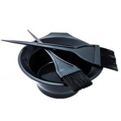 Набор для окрашивания волос, 2 кисти+ 1 емкость, (30175)
