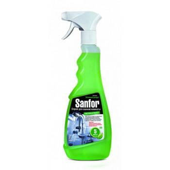 Sanfor чистящий спрей для ванной комнаты, Чистота и Блеск, Зеленый Цитрус, 500мл (08421)