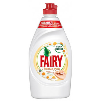 Fairy моющее средство для посуды, Нежные Руки, Ромашка и Витамин Е, 900мл (17048)