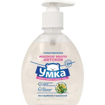 Умка гипоаллергенное жидкое мыло для подмывания младенцев, нежная забота с первых дней, С Экстрактом череды и Д-пантенолом, 300мл (21774)
