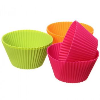 Формы силиконовые для кексов, 7см, 5шт (00159)