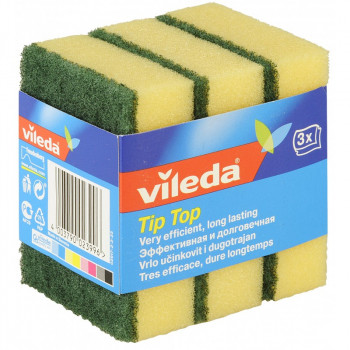Vileda Tip Top губки для мытья посуды, 3шт (23996)