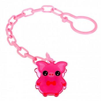 Flower Baby цепочка для пустышки, розовый, 1шт (02252)