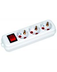 Horoz удлинитель с выключателем 3м, 1шт (00277)