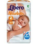 Libero New Born #2 подгузники, 3-6 кг, 70шт (83929)