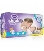 Violeta Double Care Midi  #3 подгузники, в упаковке влажные салфетки в подарок, 4-9 кг, 66шт (10222)