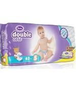 Violeta Double Care Junior #5 подгузники, в упаковке влажные салфетки в подарок, 11-25 кг, 62шт (10307)
