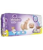Violeta Double Care Maxi #4 подгузники, в упаковке влажные салфетки в подарок, 7-18 кг, 60шт (10253)