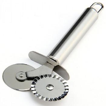 Двухколесная тесторезка, металлическая, 1шт (04263)
