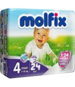 Molfix Midi #4 подгузники, 7-14 кг, 24шт (03842)