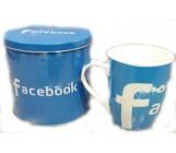 Чашка в жестяной банке, Facebook, 1шт (50526)