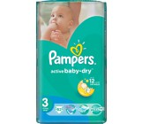 Pampers active baby-dry #3 подгузники, 5-9 кг, 62шт (65054)