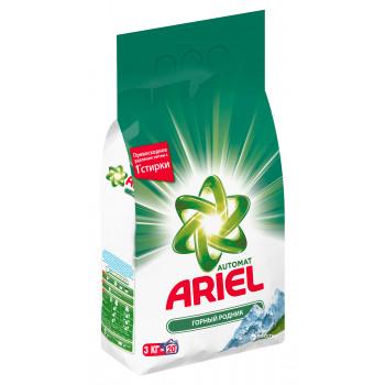 ARIEL стиральный порошок, Горный родник, для белого белья, 3кг (33468)