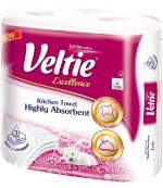 Veltie  Excellence бумажные полотенца, 2 рулона, 3 слоя, 96 отрывов в рулоне (02853)