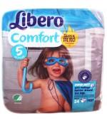 Libero comfort #5 подгузники, 10-14 кг, 24шт (92474)