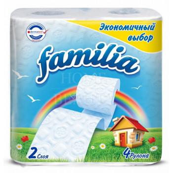Familia туалетная бумага, 4 рулона, 2 слоя,  150 отрывов в рулоне (00532)