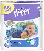 Happy #3 подгузники 5-9 кг, 72 шт (02864)