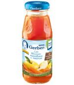 Gerber сок (яблоко,морковь с мякотью) 5 месяцев 175мл (00267)
