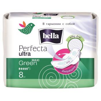 Bella Perfecta ultra maxi green гигиенические прокладки, 5+ капель, 8шт (03525)